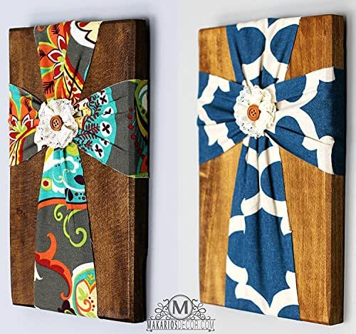 Fabric wall cross handmade for Fabric wall art