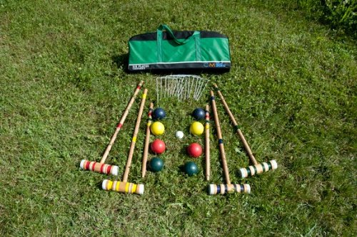 CM Equip Sports 4 Player Kids Croquet Set / Bocce Combo