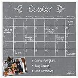 Dry Erase Magnet Calendar Gray