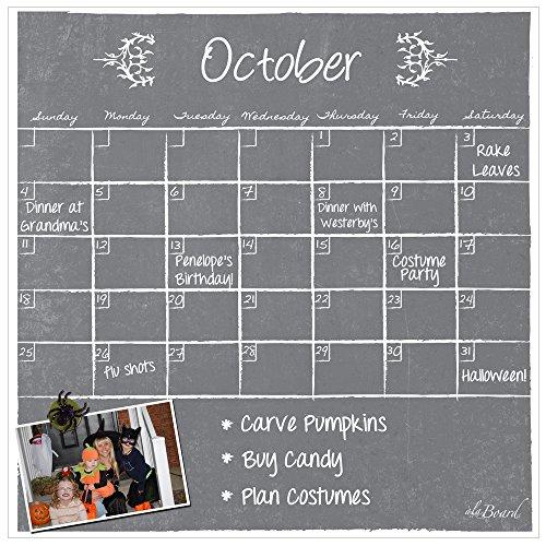 Dry Erase Magnet Calendar Gray (Refrigerator Calendar compare prices)