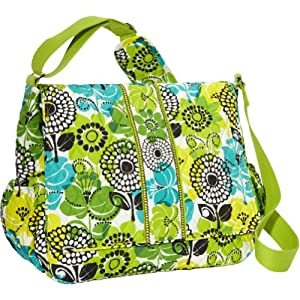 vera bradley messenger baby bag lime 39 s up baby. Black Bedroom Furniture Sets. Home Design Ideas