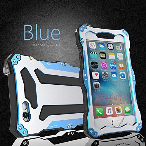 【全4色 R-JUST 防水 iPhone6/6s ケース】空アルミメタル+衝撃吸収材+Gorilla Glass iPhone6/iPhone6s(4.7)ケース R-JUST GUNDAM AL耐衝撃 防汚 防塵 防水 防雪  iPhone6/6s  ケース (blue)