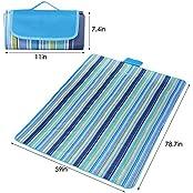 XKTTSUEERCRR Portable Foldable Outdoor Picnic Mat, Beach Blanket Mat, Waterproof Moisture-proof Lightweight All-Purpose...