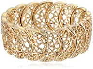 1928 Jewelry Gold-Tone Filigree Stret…