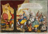 JAMES GILLRAY A Kick at the Broad-Bottoms! Emancipation of All the Talents, the Fate of the Catholic Bill c1807 Reproduction Poster on 200gsm A3 Satin Art Card