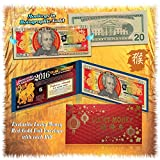 2016 Chinese New Year $20 Bill * YEAR OF THE MONKEY * Gold Hologram Lucky Money