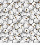 Golf Balls Fleece Throw Blanket with Finished Edges Sports
