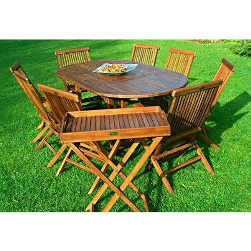 Gartenmöbel BALI Teak Tisch - 8 Sitze mit 180 cm