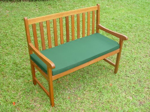 4ft 2 Seater Bench Thicker Cushion - Green