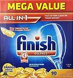 Finish Gelpacs Dishwasher Detergent, Orange Scent, 90 Count