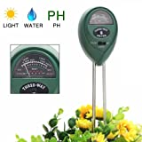 HeroBucket Soil Tester 3 In 1 Moisture Meter, Light and PH acidity Tester, Plant Tester for Garden, Farm, Lawn