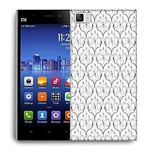 Snoogg V Shaped Floral Designer Protective Phone Back Case Cover For Xiaomi Mi 3