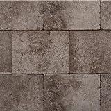 York Wallcoverings Modern Rustic Block Wallpaper 8 X 10 Memo Sample Coffee Brown/Black Lines/Brown Smudges