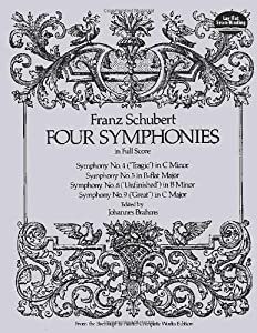 Franz Schubert: Four Symphonies in Full Score by Dover Publications Inc.