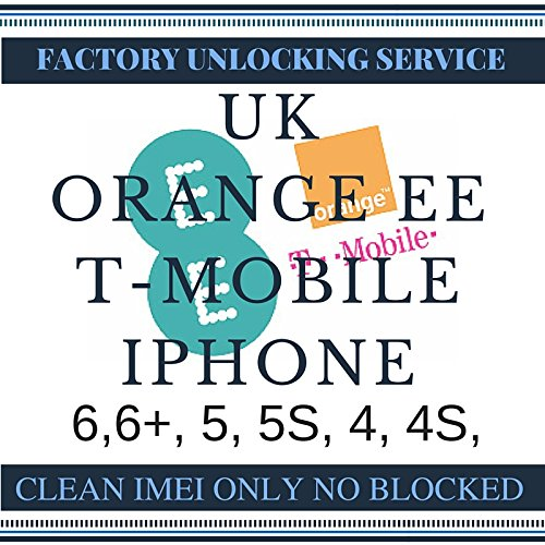 Orange, T-Mobile & EE United Kingdom Factory Unlock iPhone 2G, 3G, 3GS, 4, 4S, 5, 5S, 5C, 6, 6 Plus (Clean Express) Factory Unlocking Codes. This unlocking service provides IMEI unlock codes for Orange T-Mobile & EE UK mobile phones. Your device will be unlocked permanently and operate on any GSM network worldwide. (Unlock Service Iphone 4s compare prices)