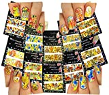 Nail Art Water Slide Tattoo Decals Full Cover Animal Patterns, 10 Pack /Cxv/