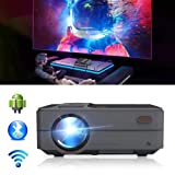 Bluetooth WiFi HDMI Portable Mini Projector 3200 Lumen LED LCD Multimedia Movie Gaming Wireless Home Theater Projector Support 1080p with HDMI USB for iPhone iPad Fire TV Stick PC (Color: Mini Projector 3200 Lumen-WiFi-Bluetooth)