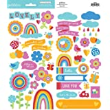 Pebbles Party With Amy Locurto Rainbow Accent & Phrase Stickers