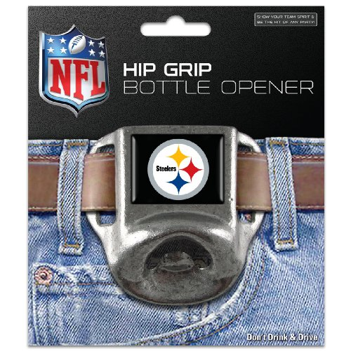 NFL Pittsburgh Steelers Hip Grip Bottle Opener