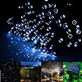 INST Solar Powered LED String Light, Ambiance Lighting, 54.5ft 17m 100 LED Solar Fairy String Lights for Outdoor, Gardens, Homes, Christmas Party (White)