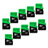 KEXIN 32GB Micro SD Card 32 GB Class 10 Ultra Micro SDHC UHS-I Memory Card C10, U1, 10 Pack Micro SD Cards (Color: E. 10 Pack 32GB, Tamaño: 32G)