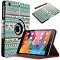 iPad Mini 3 Case, iPad Mini Case, iPad Mini Retina Case - ULAK 360 Rotating PU Leather Stand Flip Case Cover with Auto Sleep/Wake Function for Apple iPad Mini 3, iPad Mini and iPad Mini with Retina Display (OVERDOSE|ESODREVO)