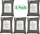 Olivia's 5 pack- All Natural Air Freshener - Eco Friendly Odor Eliminator and Moisture Absorber – 1000g of Activated Bamboo Charcoal For Use As Car Deodorizer - Closet or Room Air Purifier (Cool Grey)