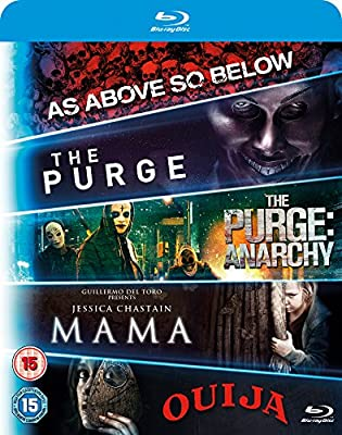 Blu ray 5-Movie Starter Pack: Mama/The Purge/Purge: Anarchy/OUIJA/As Above, So Below [Blu-ray]
