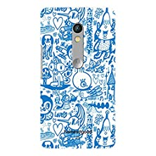 buy Homesogood Various Cartoon Characters White 3D Mobile Case For Moto X Play (Back Cover)