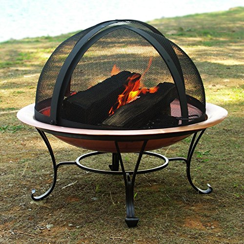 Easy Access Fire Pit Spark Screen Size: 24″ screen