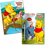 Winnie the Pooh Paint with Water Book and Coloring Book (2 Books, 1 Paint Brush)