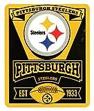 NFL Marquee Logo Lightweight Fleece Blanket (Pittsburgh Steelers)