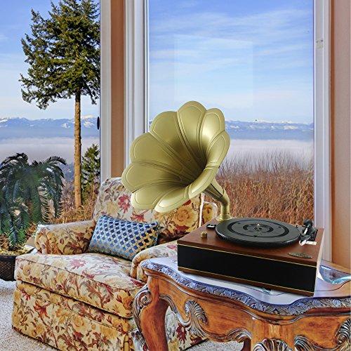 Pyle PNGTT12RBT Vintage Classic Bluetooth Turntable Gramophone Phonograph Vinyl Record Player, Vinyl-To-MP3 Recording 3