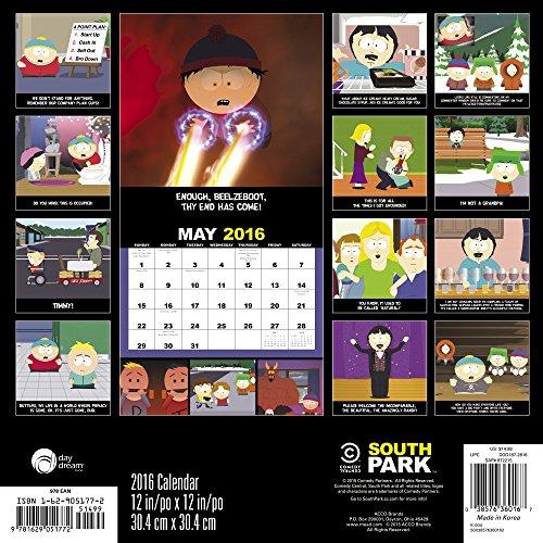 South Park 2016 Calendar