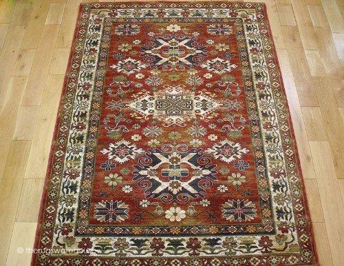 100% Wool Mossoul Tigris Rust Rug 120x170cm (4'x5'6'')