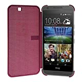 Heartly Dot View Touch Sensative Flip Thin Hard Shell Premium Bumper Back Case Cover For HTC Desire 620 620G 820...