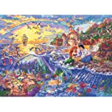 MCG Textiles 52507 Piece Disney Dreams collection The Little Mermaid Counted Cross Stitch Kit Item , Multi-Colored