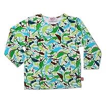 Zutano Baby Boys Dinos Long Sleeve T Shirt, Cream, 24 Months