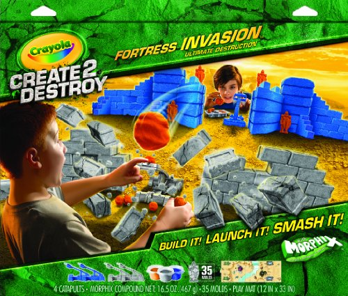 Crayola Create 2 Destroy Fortress Invasion Ultimate Destruction Playset (Play Dough Shape Makers compare prices)