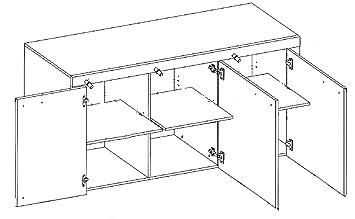 trendteam 1311 872 90 sideboard havanna mit korpus und. Black Bedroom Furniture Sets. Home Design Ideas