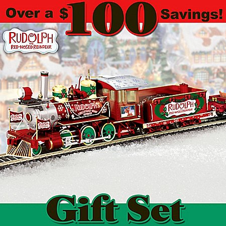 Rudolph'S Christmas Town Express: Collectible Rudolph Train Set