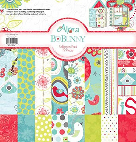 Bo Bunny Alora Collection Pack 12'X12' 18 Double Sided Papers + Sticker Sheet (Bo Bunny Press compare prices)