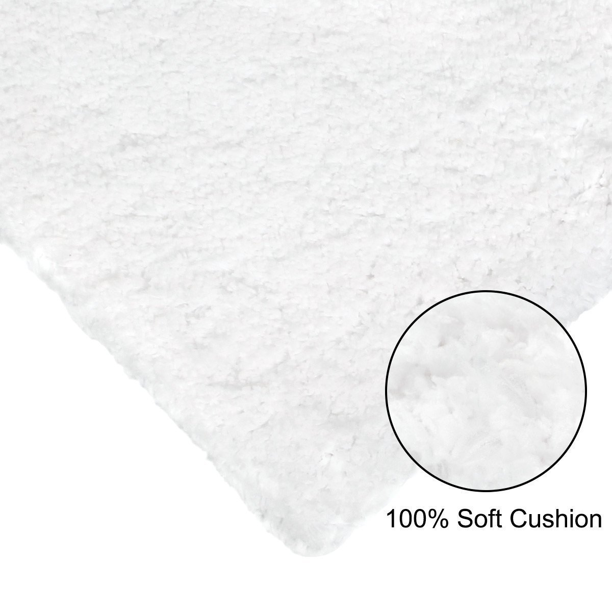 "Norcho Soft Microfiber Non-slip Antibacterial Rubber Luxury Bath Mat Rug 31""x19"" White"