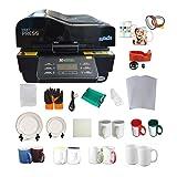 3D Vacuum Heat Press Machine Sublimation Transfer Mug Plate Tile T-Shirt CISS Tape Printing Business (Color: black)