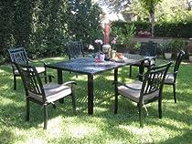 Big Sale CBM Outdoor Cast Aluminum Patio Furniture 7 Piece Dining Set A CBM1290