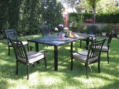 Patio Sets Clearance Cbm Outdoor Cast Aluminum Patio Furniture 7 Piece Dining Set A Cbm1290 Sale
