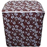 Lithara Floral Brown Colored Waterproof And Dustproof Washing Machine Cover For Semi Automatic 7kg Washing Machine