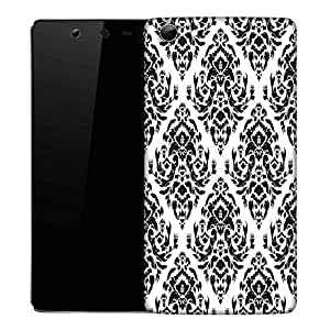 Snoogg Black White Designer Protective Phone Back Case Cover For Micromax Canvas Selfie Q348