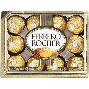 Amazon.com : Ferrero Rocher Fine Hazelnut Chocolate 5.3oz : Chocolate