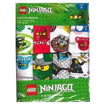 Boy's Briefs (Pack of 8) Ninjago Theme (4)